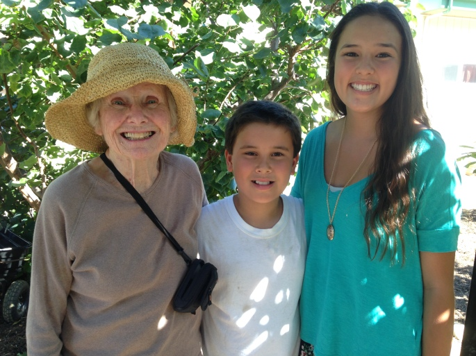 Mom with Sarah and Evan, 2014