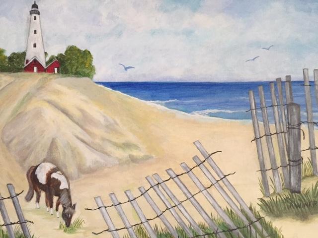 Beach scene-med